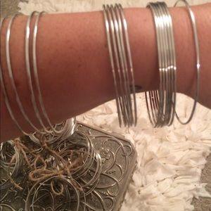 Jewelry - Stainless bangle bracelets!!!